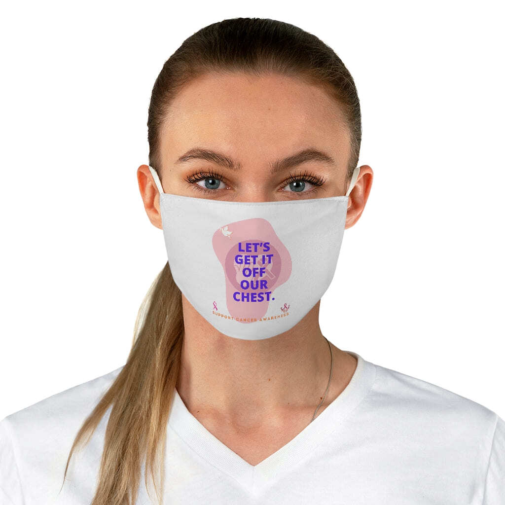 (For US/CA) #SupportCancerAwareness: Fabric Face Mask