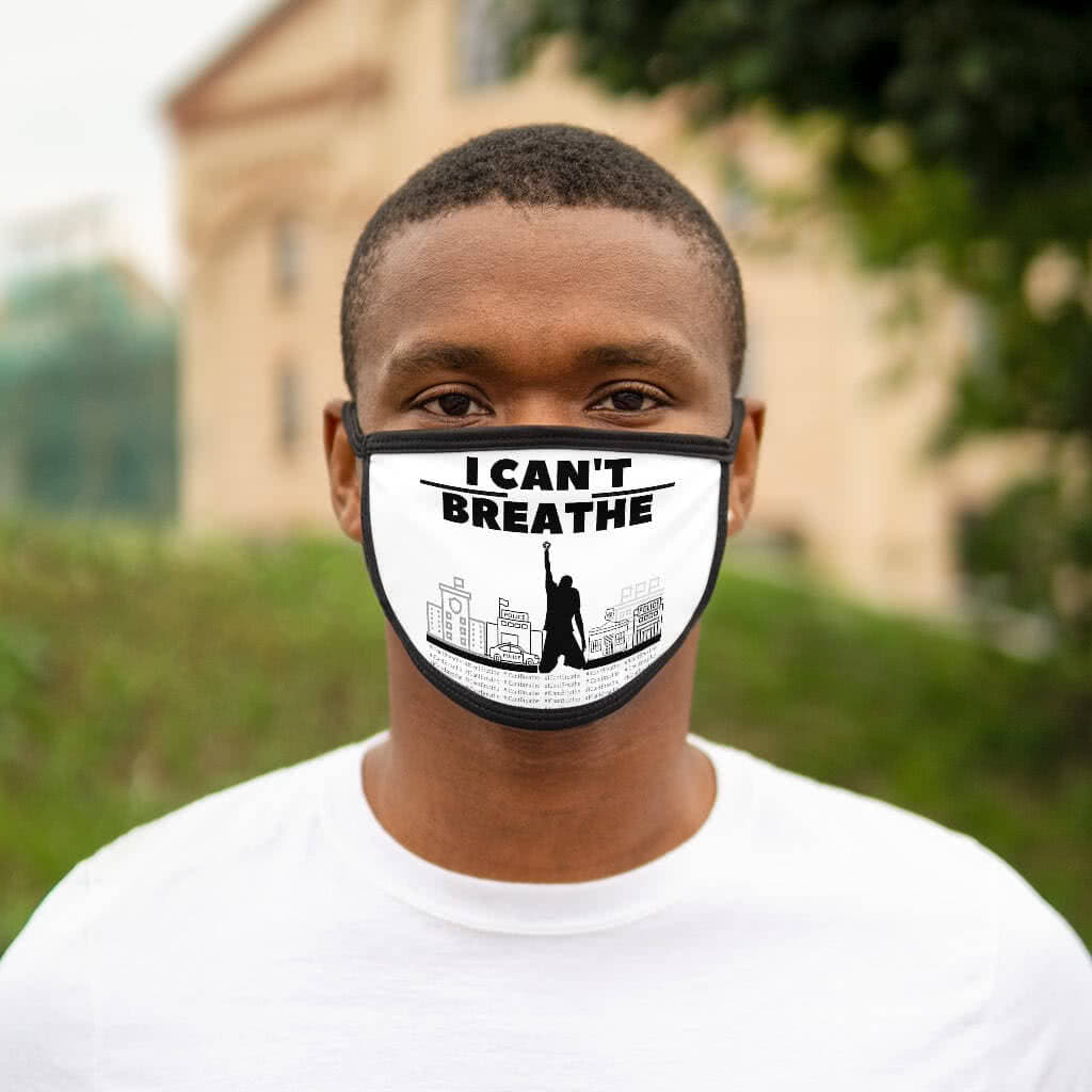 (For US/CA) #BlackLivesMatter: Mixed-Fabric Face Mask