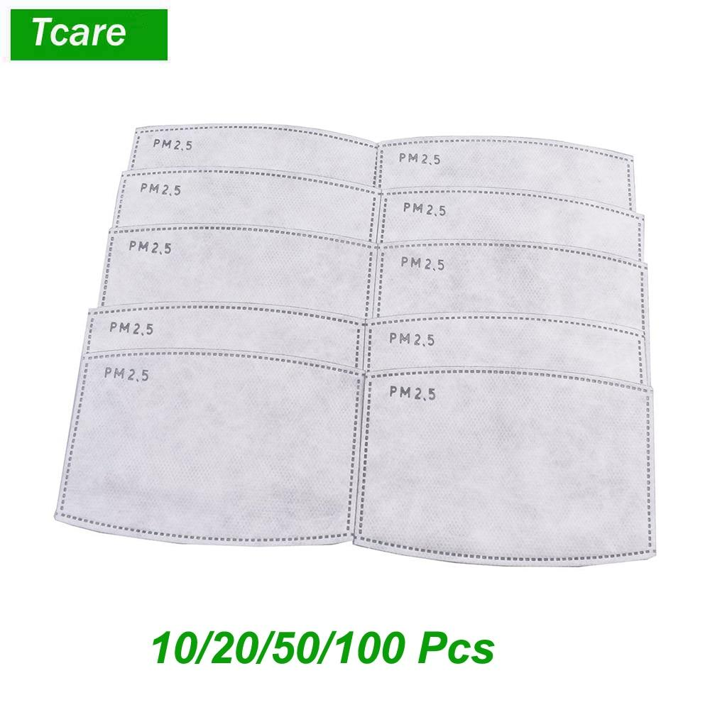 10pcs/Lot PM2.5 Activated Carbon Filter Paper for Adults...