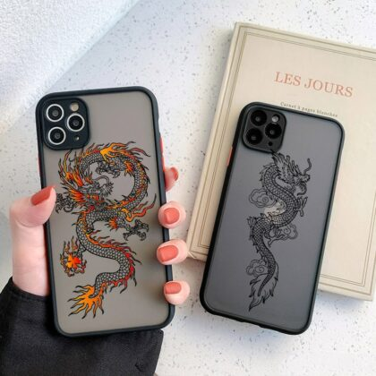 Black Dragon Phone Case For iPhone 11 7 8 Plus X XR XS 1...