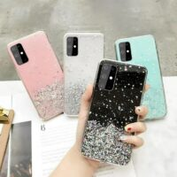 Clear Glitter Star Case Cover for Samsung Galaxy A11 A12 A42 A21S A31 A41 A51 A71 M31 M31S M51 Note 10 Lite 20 S20 FE M21 M11
