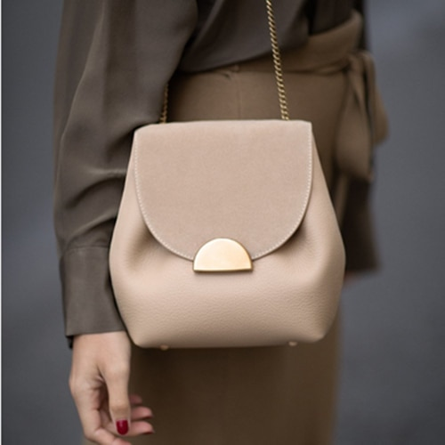 Bucket Bags Small Chain Handbags Women Leather Shoulder Bag Lady Cross Body Handbag