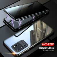 360 Privacy Anti-Peep Magnetic Case for Samsung Galaxy S20 Ultra S10 E S9 S8 Plus Note 20 10 9 8 A51 A71 Double Sided Glass Case