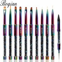 Rainbow Nail Brush Gel Brush For Manicure Acrylic UV Gel Extension Pen For Nail Polish Painting Drawing Brush Paint Tools