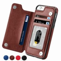 Luxury Slim Fit Premium Leather Cover For iPhone 11 12 mini Pro XR XS Max X 6 6s 7 8 Plus Wallet Card Slots Shockproof Flip Case