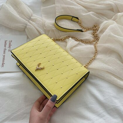 Pu Leather Crossbody Bags For Women Rivet Chains Shoulde...