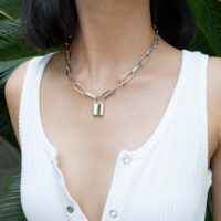 Box Chain Toggle Clasp Gold Necklaces Mixed Linked Circle Necklaces for Women Minimalist Choker Necklace Hot Jewelry