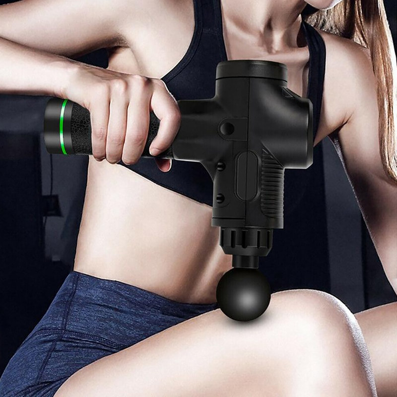 (For USA only) LCD Display Massage Gun Deep Muscle Massager Muscle Pain Body Neck Massage Exercising Relaxation Slimming Shaping Pain Relief