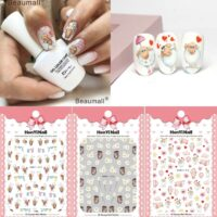 Cartoons Nails Art Manicure Back Glue Decal Decorations Design Nail Sticker For Nails Tips Beauty