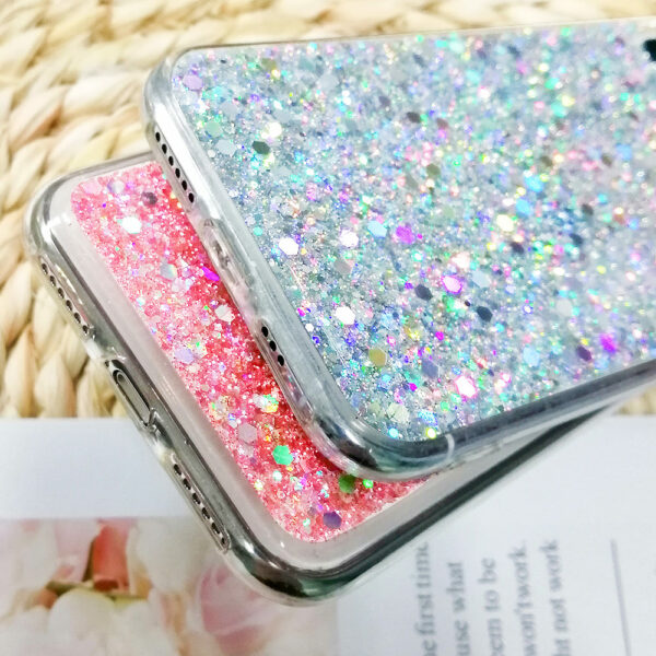 Luxury Glitter Sequins Soft Shockproof Silicone Case Cover for IPhone 11 Pro Xr Xs Max X 8 7 Plus 6 6s 5 5s SE 2020 12 Mini