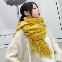 Woman winter scarf fashion female shawls cashmere handfeeling winter wraps solid color winter scarf