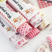 50Pcs/Lot Wax Paper Food Grade Grease Paper Food Wrappers Wrapping Paper For Bread Candy Cake Burger Fries Oilpaper Baking Tools
