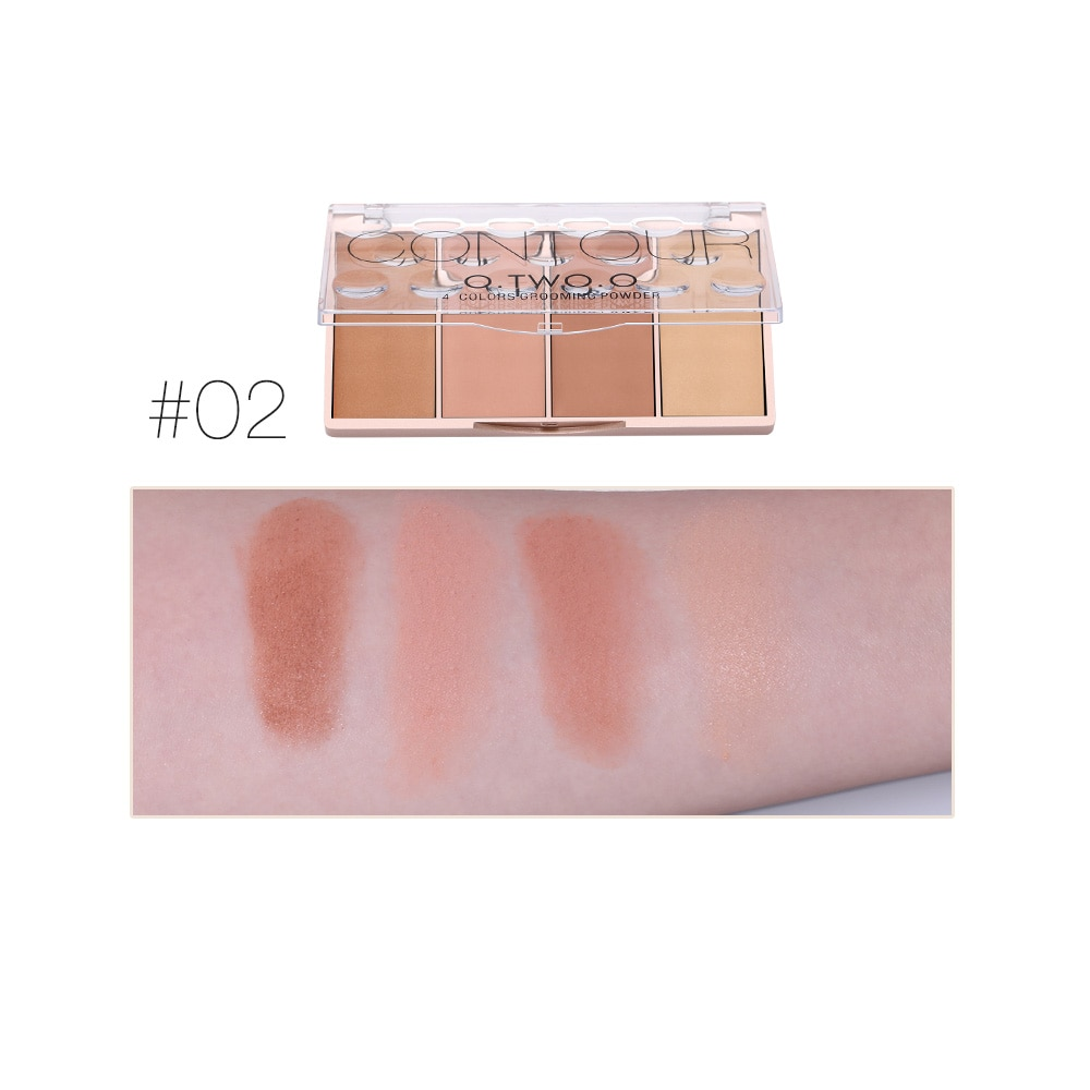 Contour Palette Face Shading Grooming Powder Makeup 4 Colors Long-Lasting Face Make Up Contouring Bronzer Cosmetics