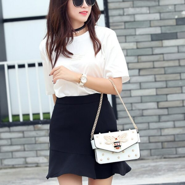 Bee Pearl Crossbody Bags For Women Chains Bee Luxury Handbags Designer Famous Brand Shoulder Bag Hand Sac A Main Female