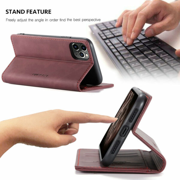 Original Flip Case For iPhone 12 11 Pro Retro Magnetic Card Stand Wallet For iPhone 12 min X s Max 6 7 8 Plus SE2020 Case