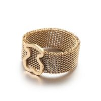 Gold Color Ring 1PCS Stainless Steel BEAR jewelry Fashion Jewelry Top-grade Plated Factory Price