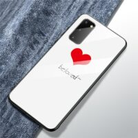 Hard Back Tempered Glass Case For Samsung Galaxy S20 Ultra S10 S8 S9 Plus S10E A10 A50 A51 A70 Note 10 Plus 9 Silicone TPU cases
