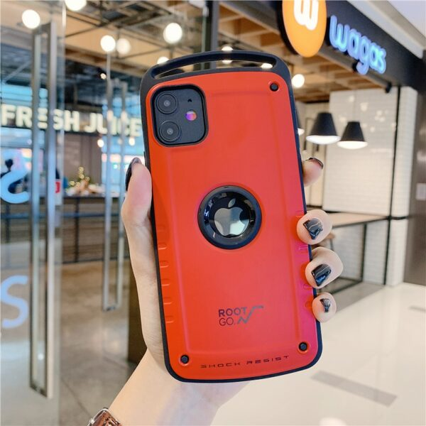 Luxury Hybrid Shockproof Case For iPhone 12 Pro Max Heavy Duty Armor Case For iPhone 11 X XS Max XR 8 7 Plus Hard Silicone Cover