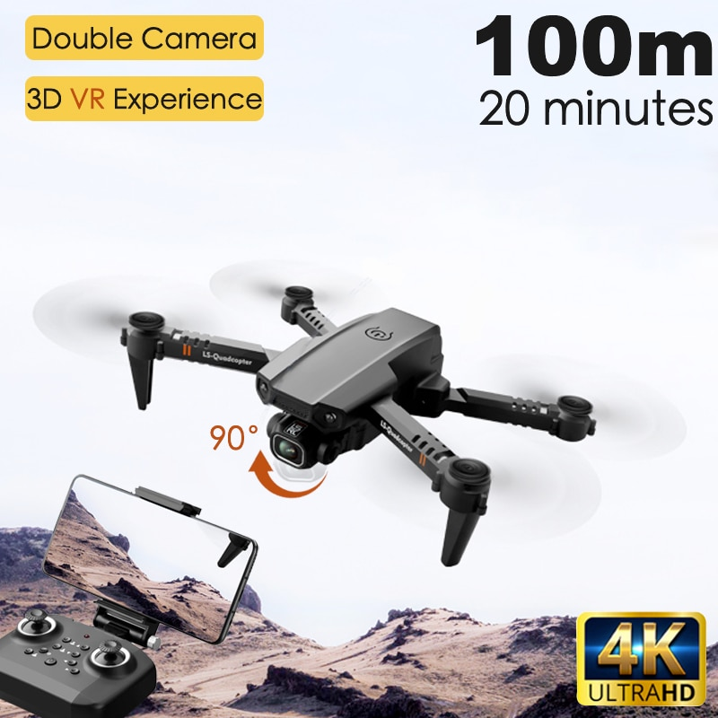 (For USA) 2020 New XT6 Mini 4K Drone HD Double Camera WiFi Fpv Air Pressure Altitude Hold Foldable Quadcopter rc helicopter child Toy Gift