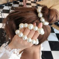 Big Pearl Hair Ties Fashion Style Hairband Scrunchies Girls Ponytail Holders Rubber Band Women Hair Accessories