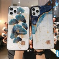 Chic Marble Gold Foil Phone Cases for iPhone 12 11 Pro Max XR X 8 7 6 Plus Glitter Soft Silicone Cover for iPhone XS Max SE 2020