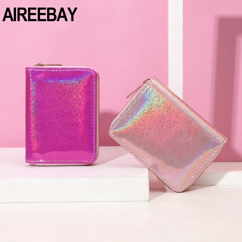 Laser Wallet Women Holographic Wallets Organizer Ladies Female Girl Purse Card Id Holders