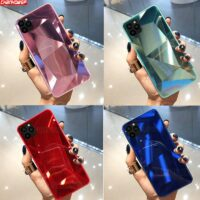 3D Mirror Diamond Soft Case for iPhone 11 Pro XR XS Max Phone Cases for iPhone 6S 7 8 6 Plus Prism Laser Gradient Back Cover
