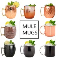 550ml Perfect Hammered Moscow Mule Mug Drum- Copper Plated Beer Cup Coffee Cup 18 Ounces Stainless Steel-Copper Plated Cup