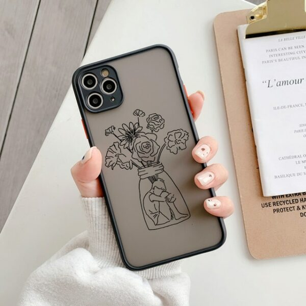 Art Retro Abstract Geometry Phone Case For iPhone 12 X Xs max Xr 11 Pro Max 7 7 Puls 6 6S 7 8 Puls SE 2020 Cute Anti-fall Cover