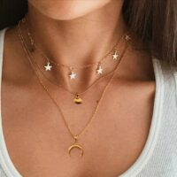Non-Fading Stainless Steel Animal Butterfly Star Gold Women Choker Necklaces Pendants Femme Chain Jewelry Kpop Collare Gift