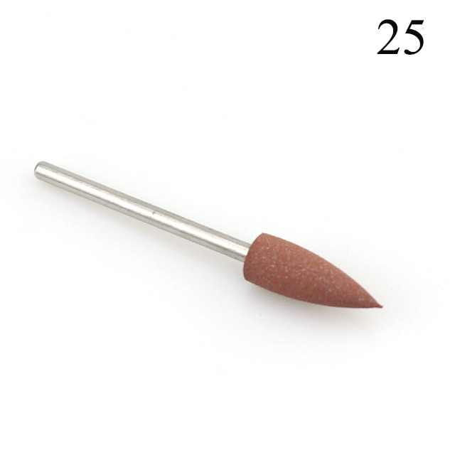 28 Types Rubber Silicone Nail Drill Bit Nail Buffer Rotary Burr Mills Cutter for Manicure Drill Accessories Foot Polishing Tools