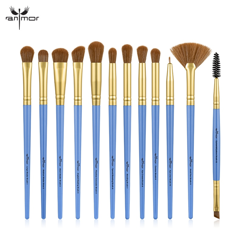 Makeup Brushes Set 3-12pcs/lot Eye Shadow Blending Eyeliner Eyelash Eyebrow Make up Brushes Professional Eyeshadow Brush