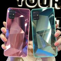 For Samsung Galaxy A51 Case 3D Diamond Prism Holographic Laser Phone Case For Samsung Galaxy A71 SM A515F A717F A 51 71 Cover