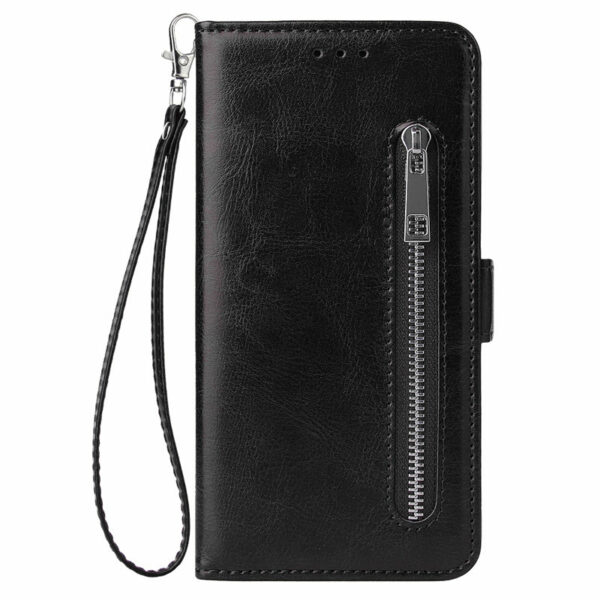 For iPhone 6 6S 7 8 Plus X XR XS Max Wallet Leather Case fashion zipper Flip Stand for iPhone 11Pro Max Cover Mobile Phone Bag
