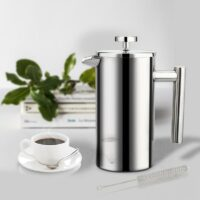 Coffee Maker French Press Stainless Steel Espresso Coffee Machine High Quality Double-Wall Insulated Coffee Tea Maker Pot 1000ml