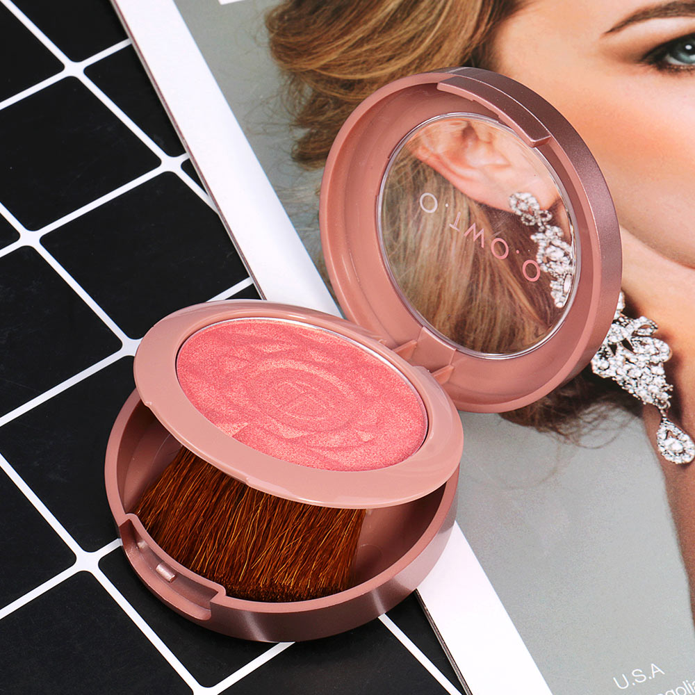 Face Blusher Powder Rouge Makeup Cheek Blusher Powder Minerals Palettes Blusher Brush Palette Cream Natural Blush