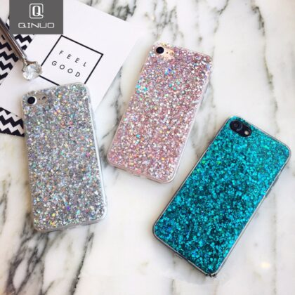 Silicone Bling Powder Soft Case For iPhone 12 Pro Max SE...