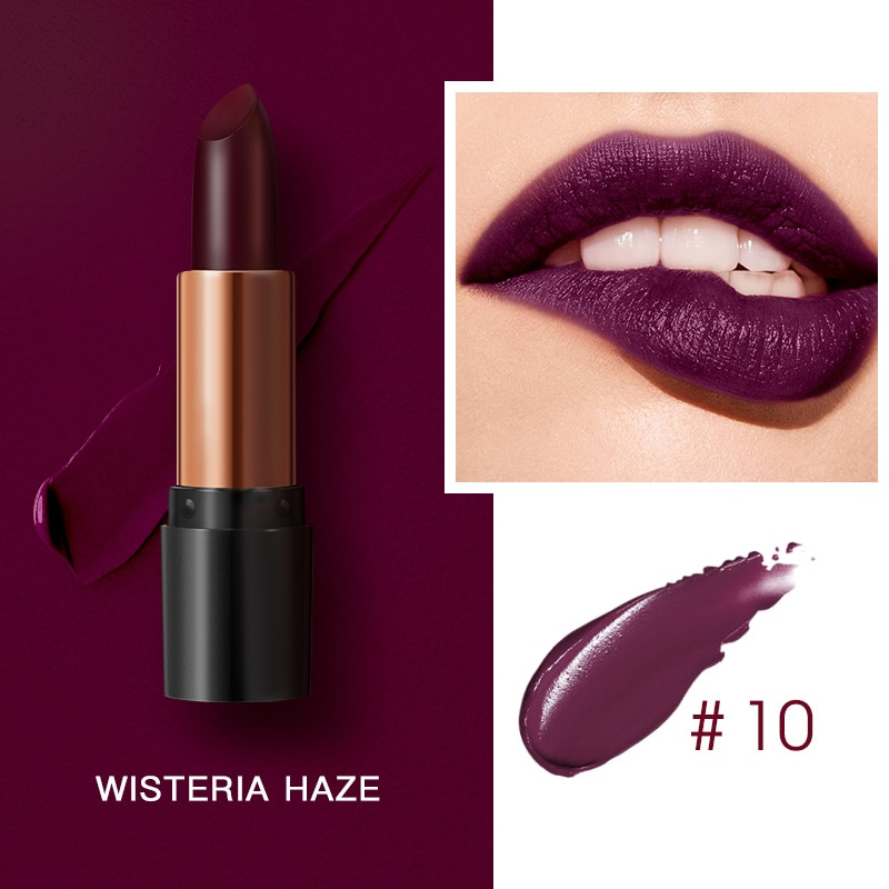 Matte Colors Lipsticks Waterproof Long Lasting Easy to Wear Lipstick Pomade Cosmetic Lip Gloss Makeup