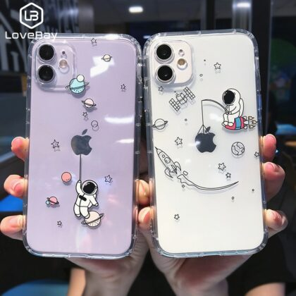 Creative Astronaut Shockproof Phone Case For iPhone 11 P...