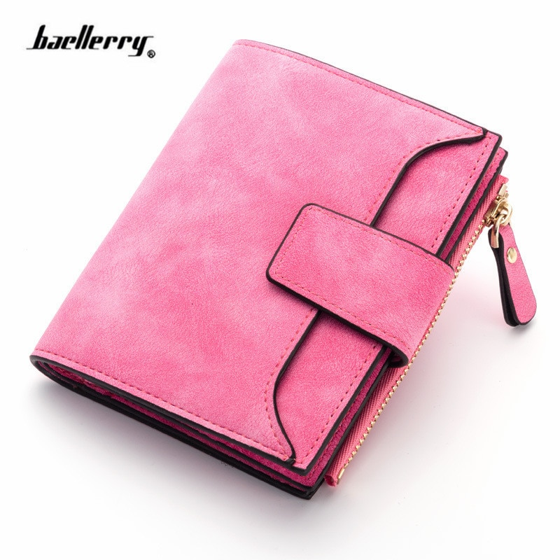 Classic PU-Leather Women Wallet Hasp Small Slim Coin Pocket Purse Women Wallets Cards Holders