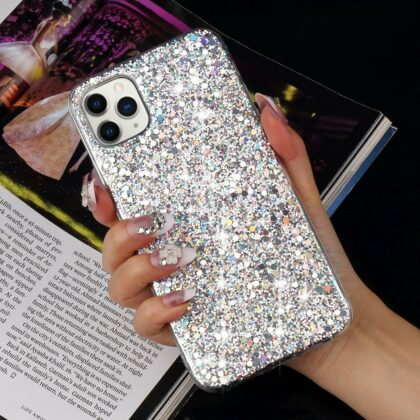 Luxury Glitter Sequins Soft Shockproof Silicone Case Cov...