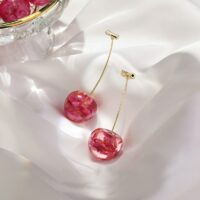 Acrylic fashion fine women drop earrings contracted sweet cherry modelling long earrings