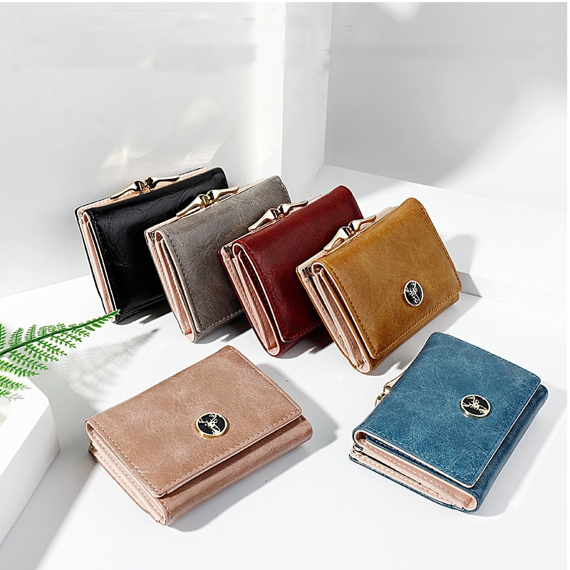 Lovely Mini Women's Wallet Small Wallets Coin Purse Ladies Fashion Hasp Card Holders