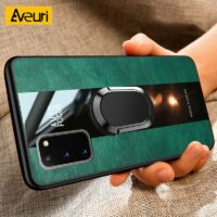 Leather Ring Phone Case For Samsung Galaxy Note 20 Ultra S20 FE S8 S9 S10 Plus A51 A71 A50 A70 Note 8 9 10 Plus M21 Cover Coque
