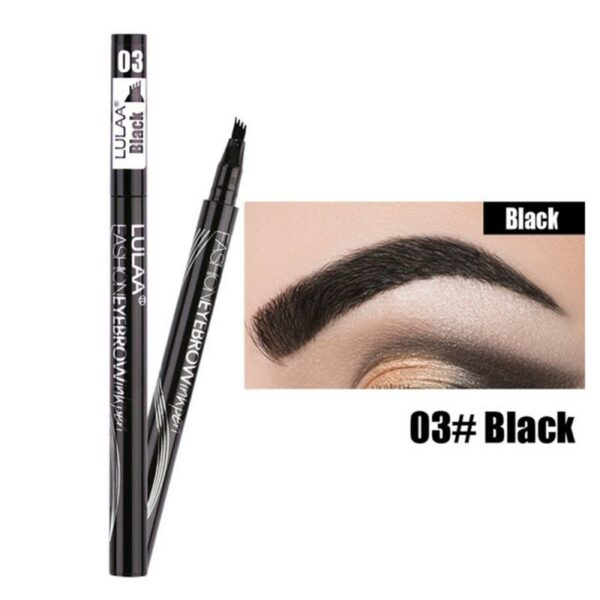 6 Colors 3D Microblading Tattoo Eyebrow Ink Pen 4 Heads Waterproof Eyebrow Long Lasting Professional Fine Sketch Eye Brow